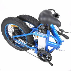ECOTRIC Fat Tire Electric Bike Beach Snow Mountain Bicycle folding positioon