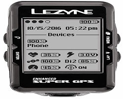 Lezyne Enhanced GPS Cycling Computer