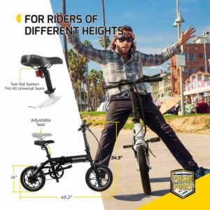 SwagCycle EB-5 Pro Lightweight and Aluminum Folding EBike height