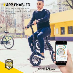 SwagCycle Pro Folding Electric Bike app enabled
