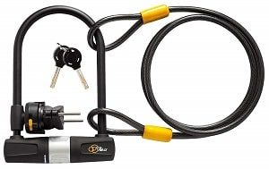 Via Velo U Lock with Cable